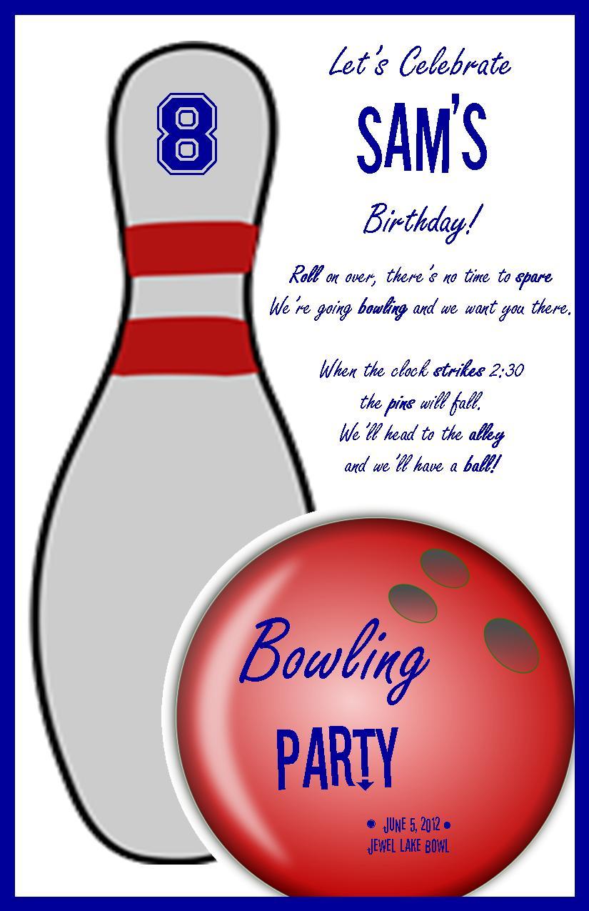 Einladung Zum Bowling: Bowling Themed Birthday Party