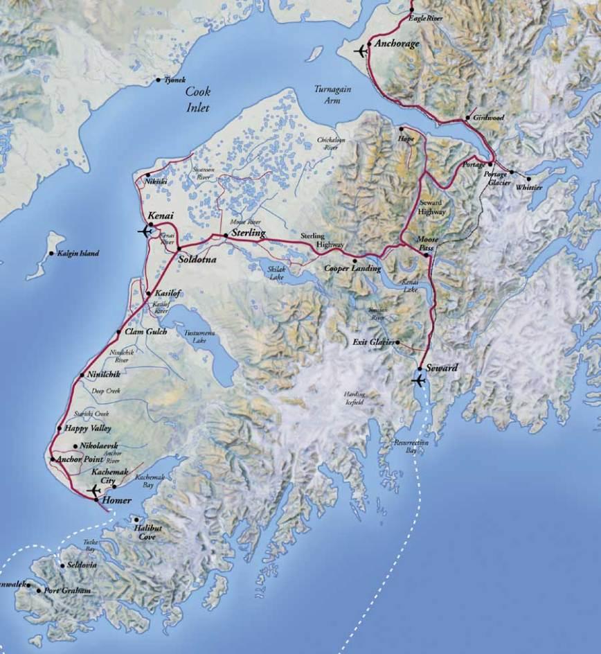 Kenai-Peninsula-Alaska-Map