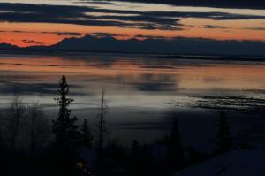 turnagain arm sunset alaska