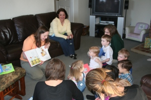 reading mother goose