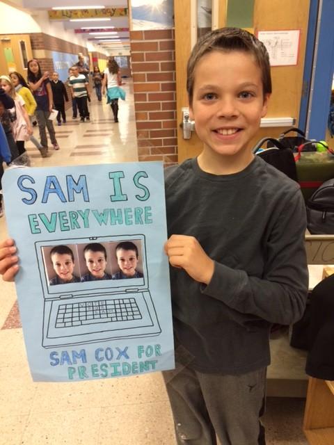 sam campaign poster
